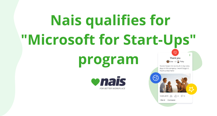 blog title with nais qualified for microsoft start-up programme